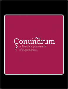 Conundrum Alt Outdoor Sign